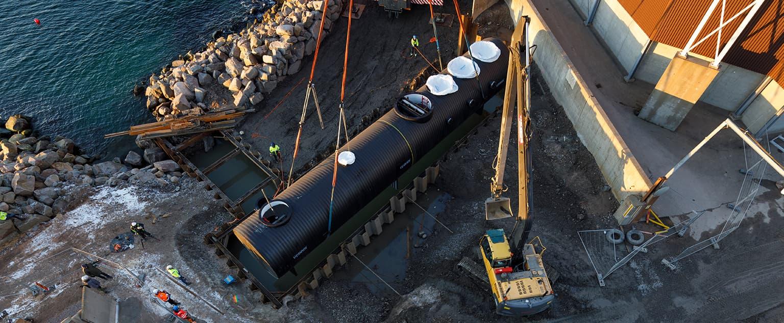 Fjärrkylesystem installeras i Helingsborgs hamn