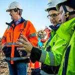 Arbete med infrakluvert på Sobacken, Borås